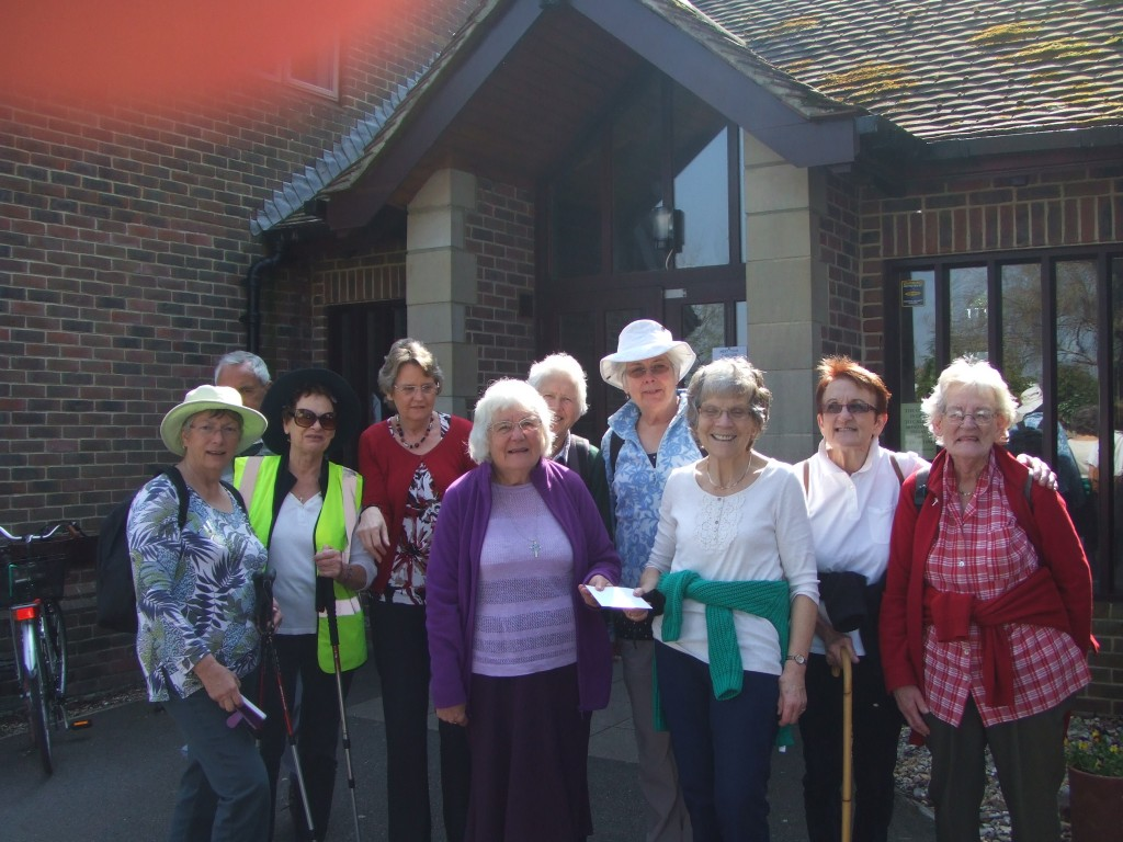 Preparing to leave Holt Rood on the AFIA walk in April 2015