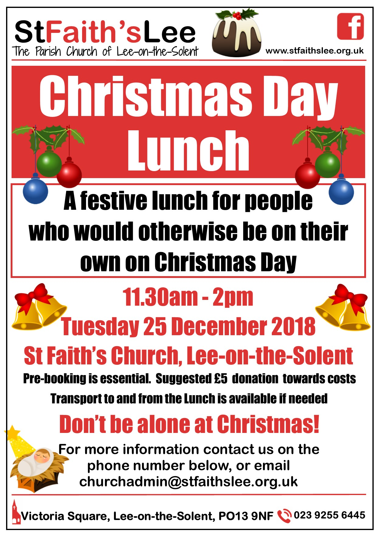 if you would like to come to the lunch or would like more information please do call us on 023 9255 6445 or contact us using the form below - What To Do On Christmas Day