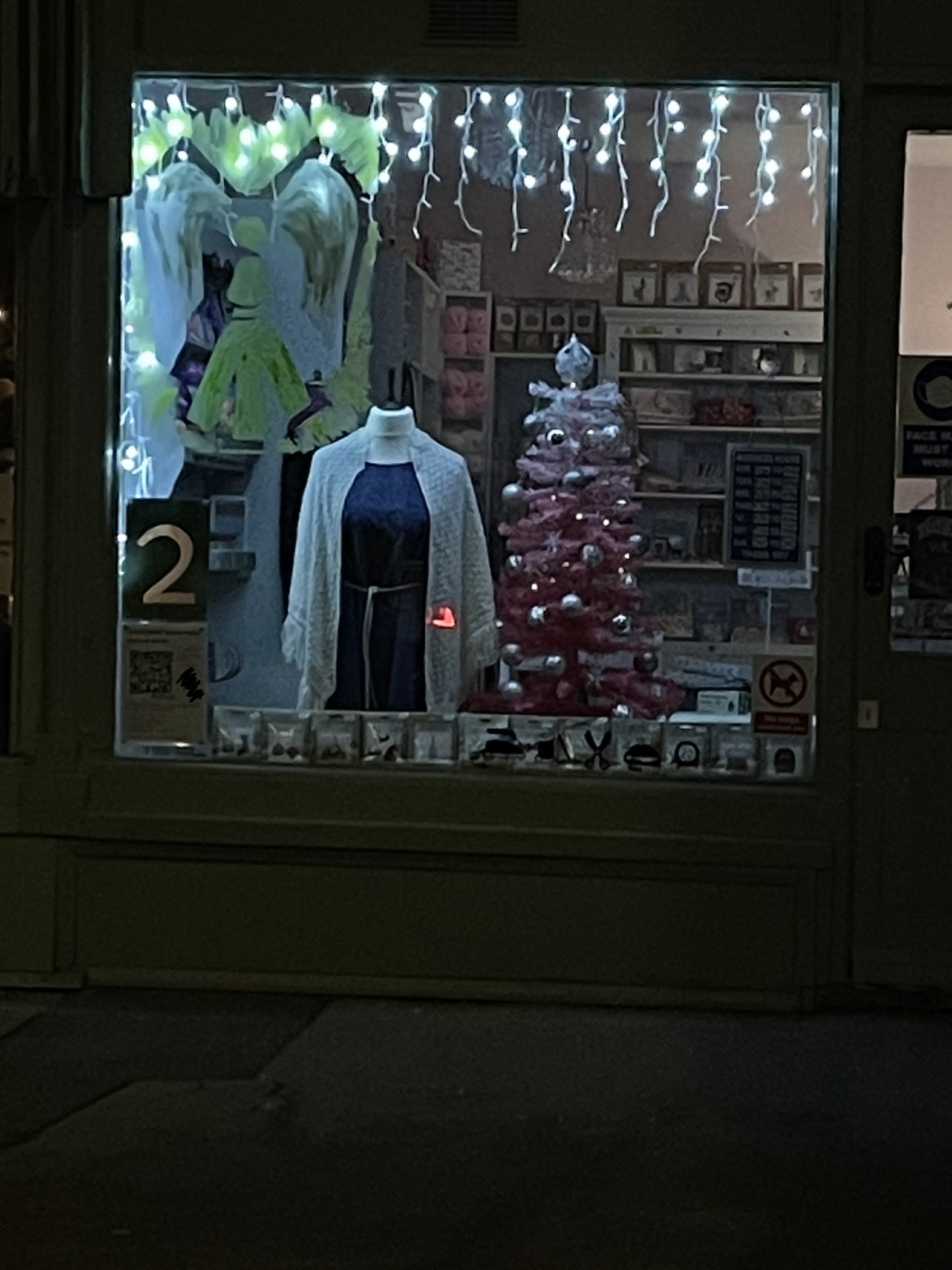 A photograph of the second Advent window on the trail