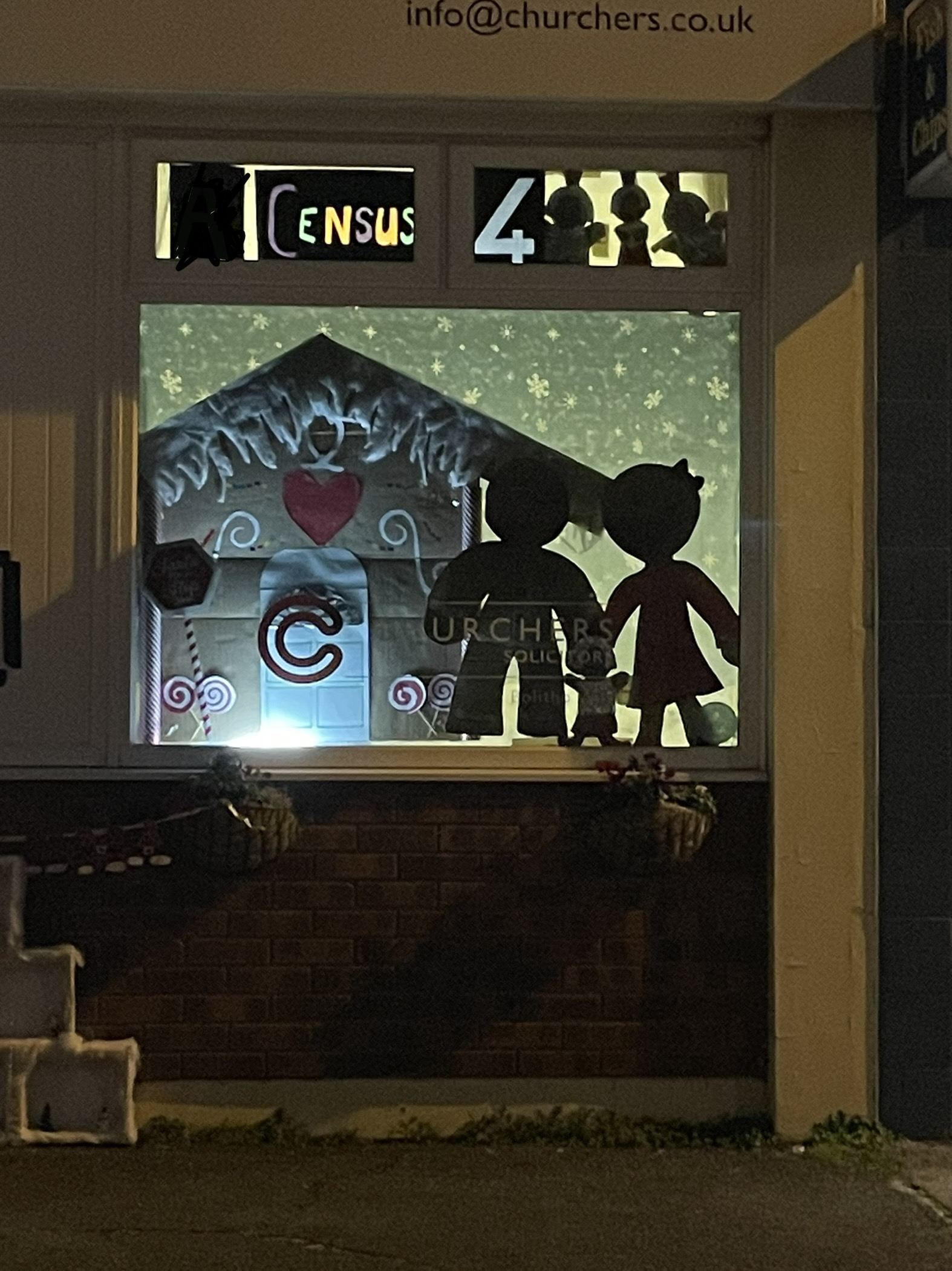 A photograph of the fourth Advent window on the trail